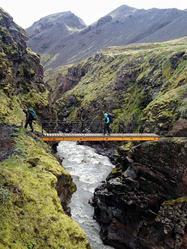 Crossing the Syðri Emstruá river