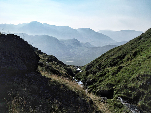 Looking back down Cam Spout towards Great Moss