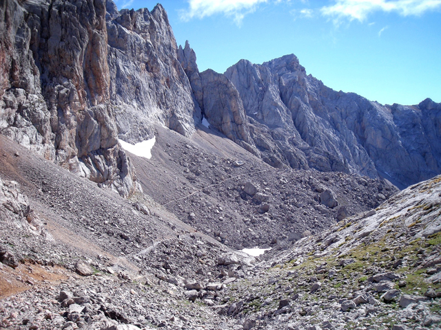 The traverse route in the Central Massif