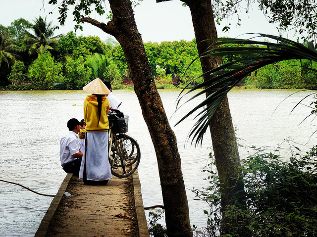 Waiting for a ferry - Mekong Delta