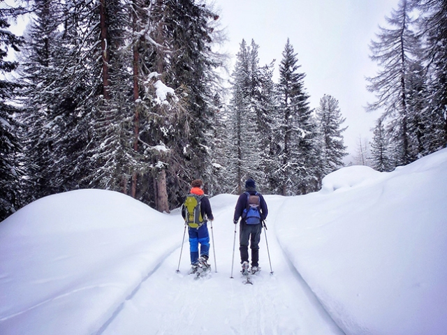 Snow Shoeing Dolomites style