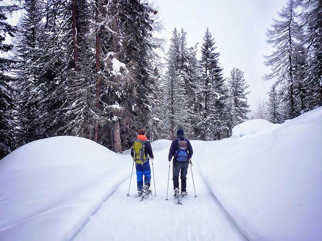 Snow Shoeing Dolomites style