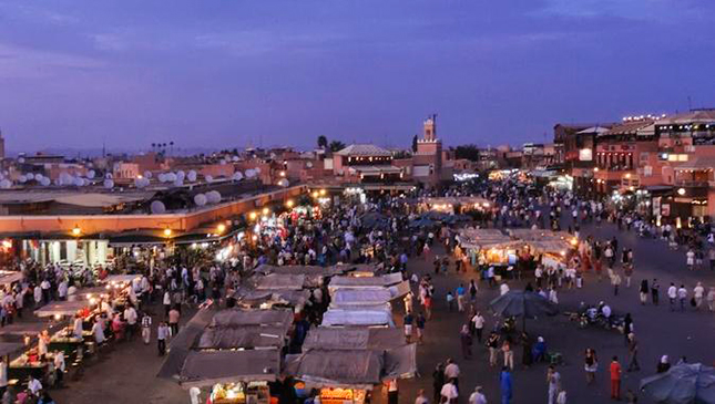 Evening in Marrakech - picture used from LonelyPlanet.com