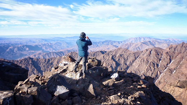 Views across The Atlas Mountains