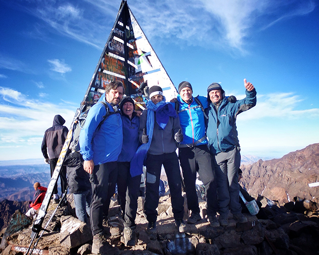 The team on the Summit of Jebel Toubkal