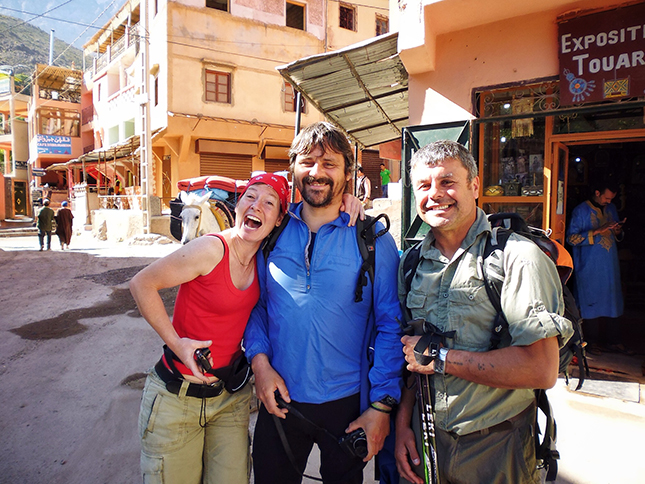 My companions for the trek and climb to Mount Toubkal in Imlil
