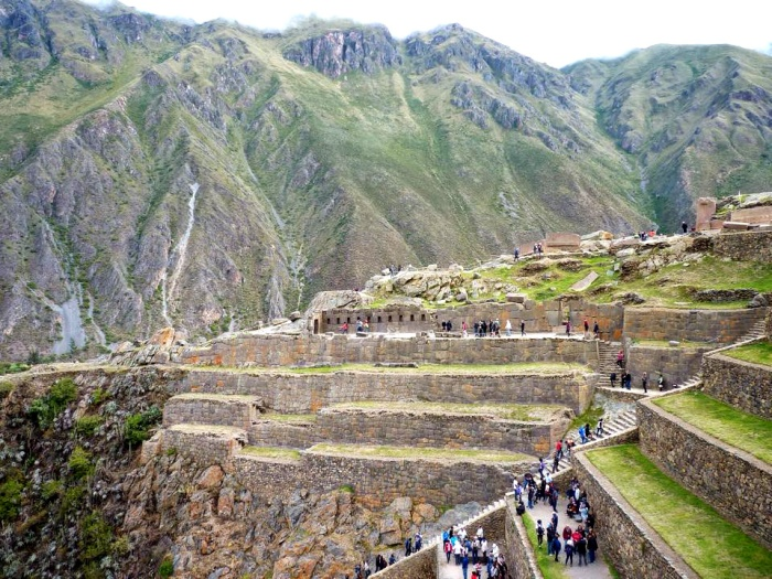 The magnificent backdrop and setting of Ollantaytambo