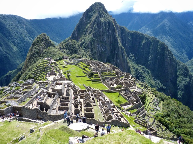 The classic view of Machu Picchu