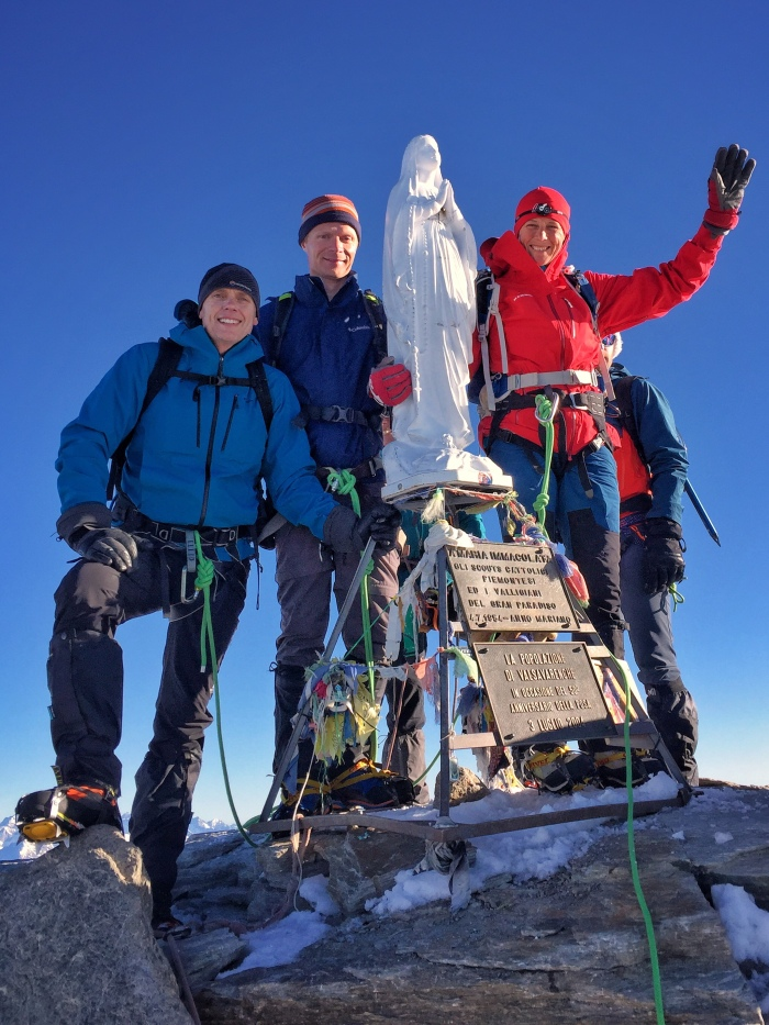 On the summit of Gran Paradiso